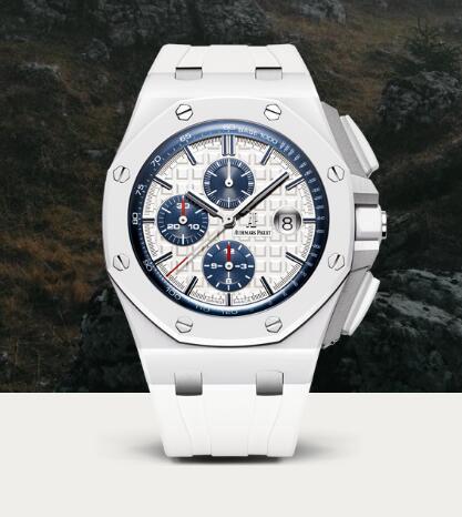 Biały Ceramiczny Audemars Piguet Royal Oak Offshore 26402 Tanie Repliki Zegarka