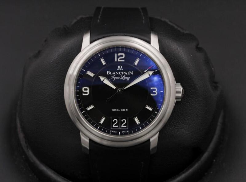 Blancpain Leman Grande Date Aqua Lung 2850B Szwajcarski Replikowy Zegarek