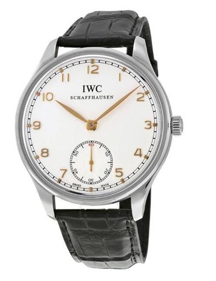 IWC Portuguese Ręcznie Nakręcana Biała Tarcza Szwajcarski Replik Zegarka IW545408