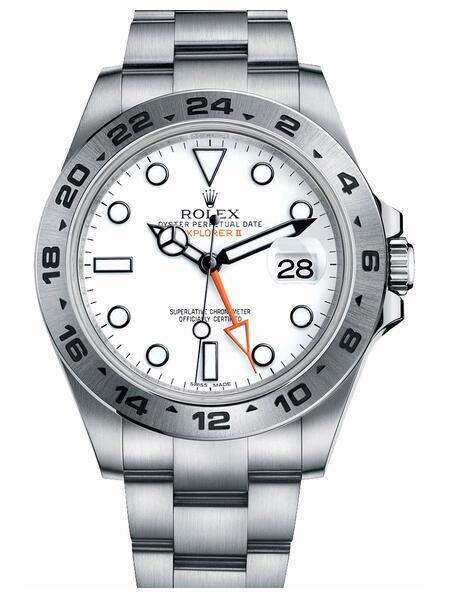 Rolex Explorer II 216570 Szwajcarski Replikowy Zegarek Z Białą Tarczą